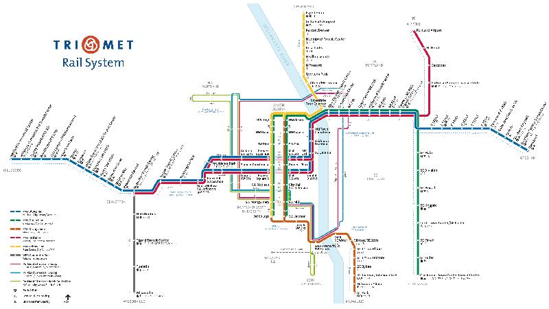 ポートランドライトレール電車